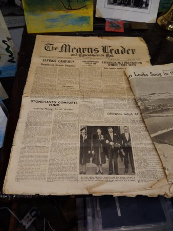 Stonehaven, UK: an old newspaper from 1940