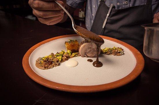 El Destilado: Mole served table-side