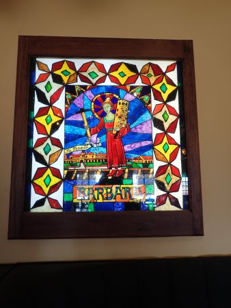 La Posada Hotel: Learn about this stained glass window in the restuarant ! Fascinating !