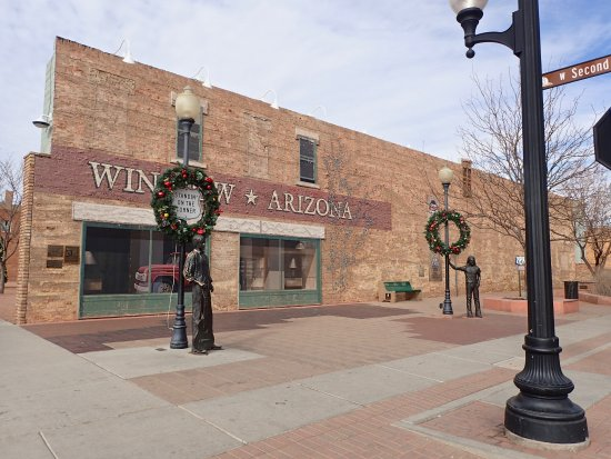 La Posada Hotel: Right down the road from the hotel you can take a picture on the corner of Winslow Arizona !