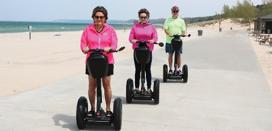 Pentwater, MI: SEGWAY RIGHT ON THE SHORE OF LAKE MICHIGAN!