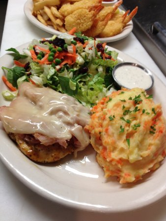 Darby, MT: Ham and Swiss Chicken with Carrot Potato Mash Special