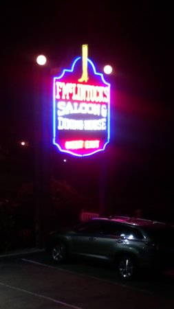 F. McLintocks Saloon & Dining House: Sign outside