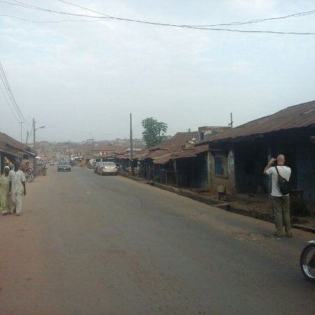Osun State, Nigeria: Right in front of Susan Wengers house street view