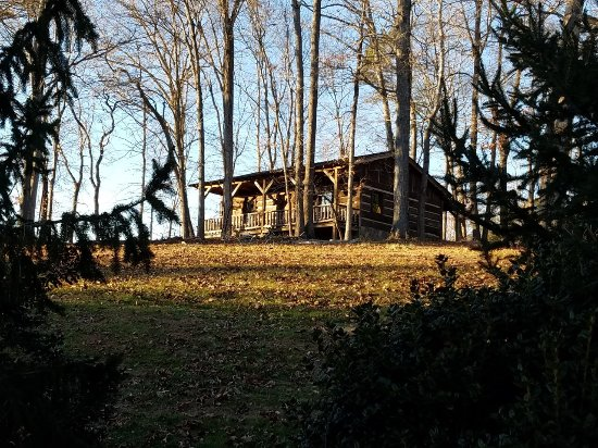 Dobson, NC: Cabins on the hill.