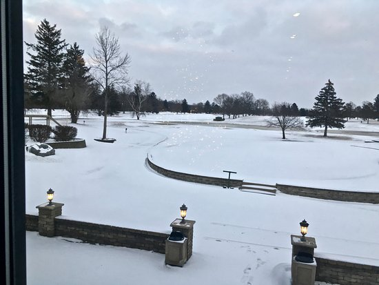 Tiffin, OH: View from restaurant of Mohawk CC golf course.