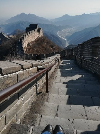 Juyong Pass of Great Wall : 70 degrees stairs, quite a challenge!