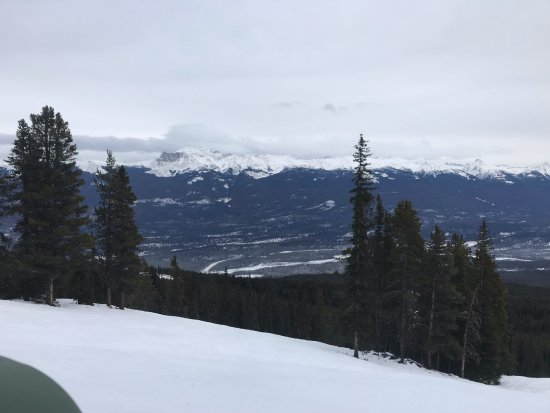 Marmot Basin Ski Area: View from the slopes