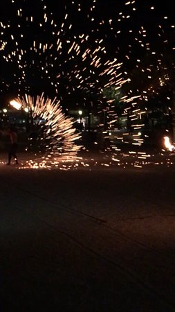 Sunscape Curacao Resort Spa & Casino: Fire Twirling Entertainers on the beach