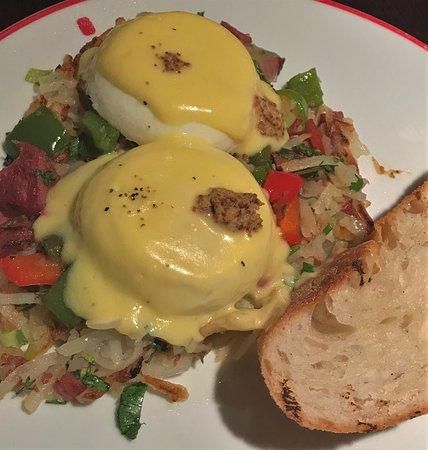 Founding Farmers: Beef Pastrami Egg Hash