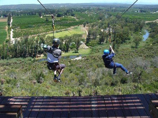 Sundays River Valley, South Africa: Ken and I on the way down