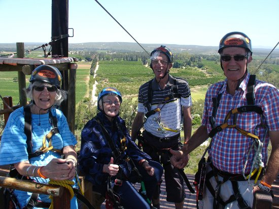 Sundays River Valley, South Africa: The four of us kitted-out and ready to jump.