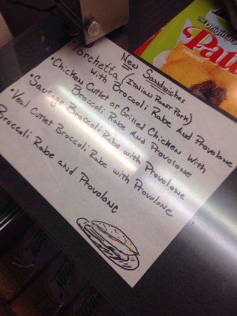 Cugino's Italian Deli: new sandwiches