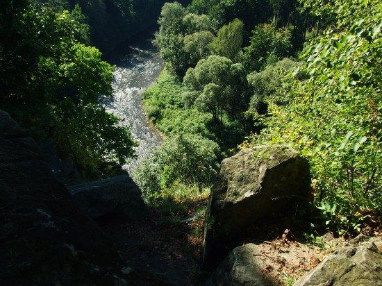 Kamenny Ujezd, Tschechien: pohled na meandr pod hradem