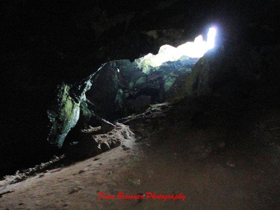 มะนัง, ไทย: Section of the roof open to allow in light and entrance / exit for the colony of bats