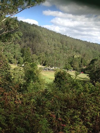 Dungog, Australia: View looking down onto camp sites