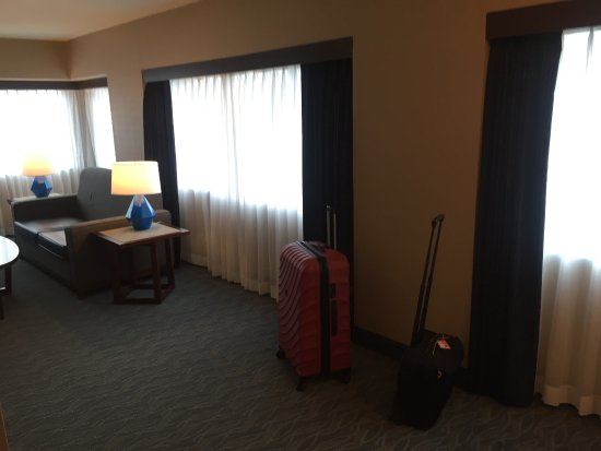 Crowne Plaza Los Angeles Harbor Hotel: Massive room with a view 602