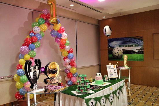 Football Theme Birthday Celebration Of My Son S 1st Birthday Zidan
