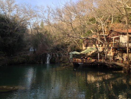 Kursunlu Waterfalls: Coffee shop. You must pass it (downside)