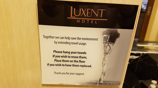 Luxent Hotel: environmentally friendly