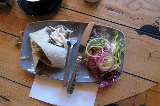 Ponteland, UK: chili beef wrap tasty but small