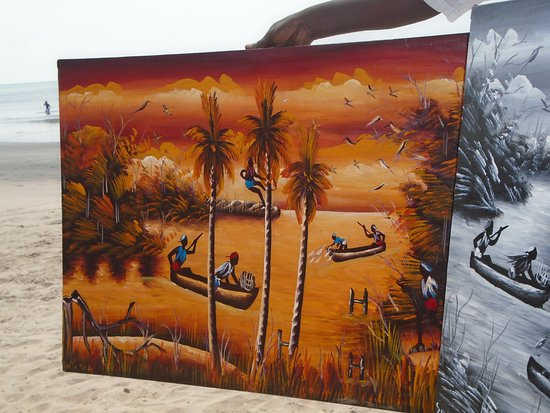 Kotu Beach: A local artisan artwork beach sold.
