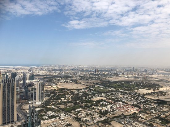 View from the 125 floor of the Burj Khalifa - Picture of