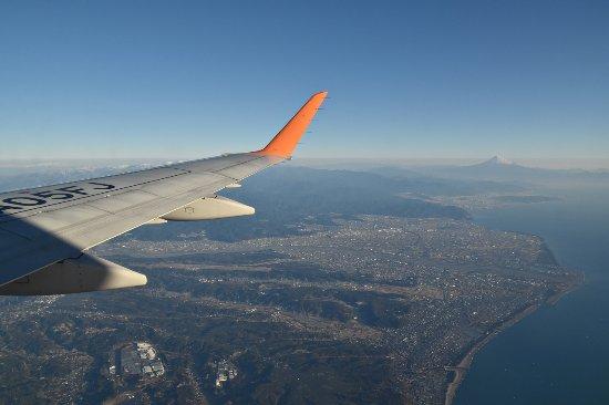 静岡空港上空 天気がよければ富士山が見えます! - Foto de Fuji Dream ...