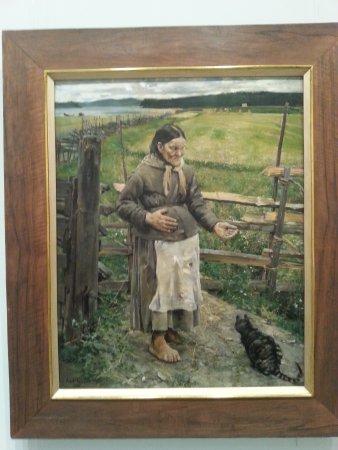 Turun taidemuseo: Akka ja kissa, Gallen-Kallelan naturalismia