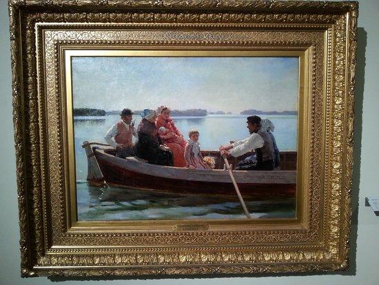 Turun taidemuseo: Edelfelt,ristiäissaatto