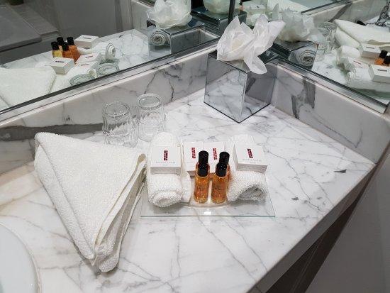 Scotts Hotel: Bathroom amenities