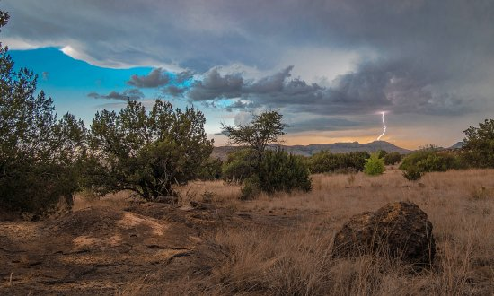 Chihuahuan Desert Nature Center & Botanical Garden: A late afternoon thunderstorm  (Photo courtest of www.andymorganphotograph.com)