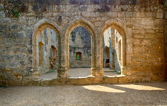 Arches And Light At Bodiam Castle