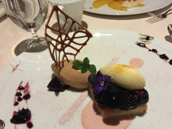 Dessert At The Picasso Restaurant At The Bellagio Hotel Picture Of