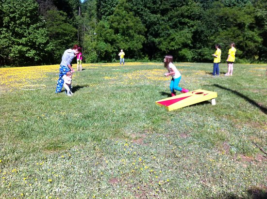 Candler, NC: Playing games in the fields