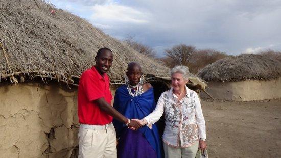 Shu'mata Camp: Lucas mit seiner Mutter in der Boma