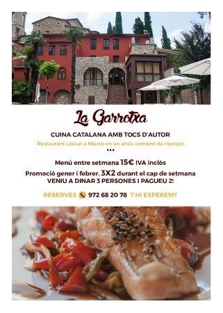 Mieres, Spania: Super promo fines de semana enero y febrero 3x2! En los menús de 23,50€ y 28,50€!