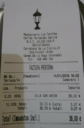 Cenes de La Vega, إسبانيا: Restaurante los Faroles