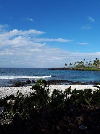 Waikoloa Beach Resort: Ocean beach.