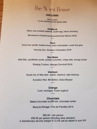 Biddenden, UK: 6 course tasting menu 12 January 2018 - Brilliant