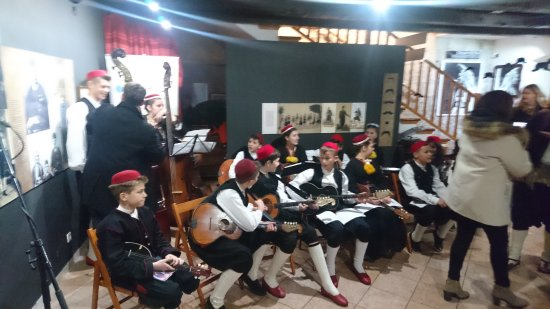Cilipi, Croacia: traditional orchestra at Christmas ceremony