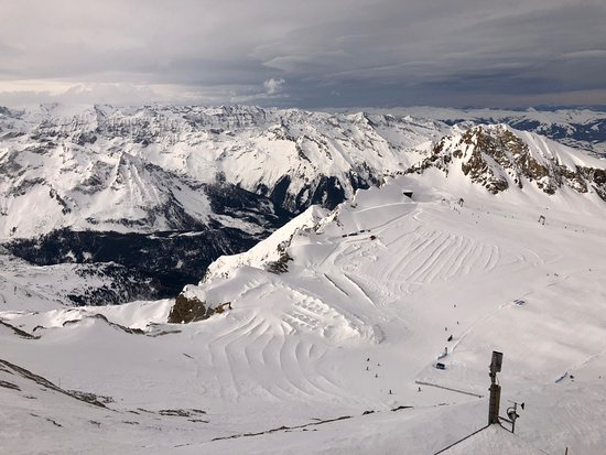 Piesendorf, Austria: Вид с ледника Капрун