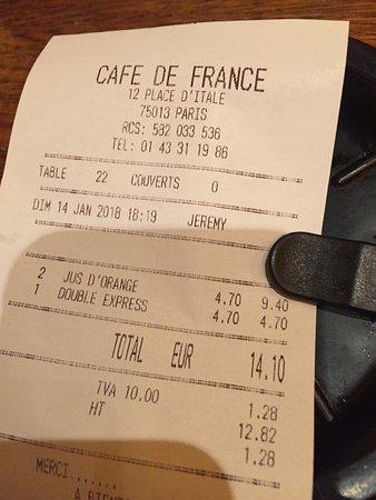 Cafe de France: Café de France