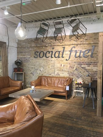 Social Fuel Cafe: New cafe with organic sourdough toasties...