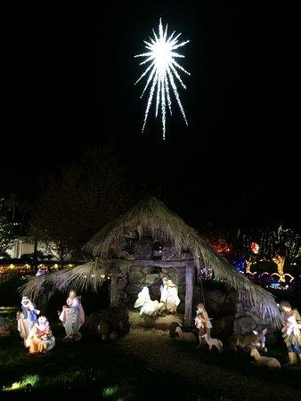 mesa arizona temple visitors center manger scene during christmas