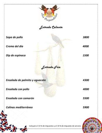 Atenas, Costa Rica: Los precios incluyen los impuestos / Prices include taxes