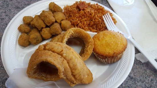 Hardeeville, SC: Fish, okra, and red rice