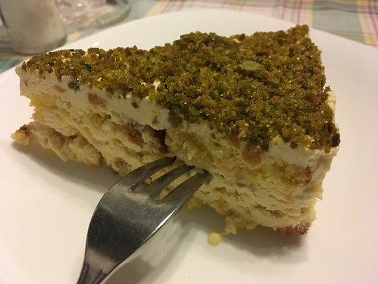 Osteria della Suburra: Tiramisu bianco (with pineapple and pistachios)