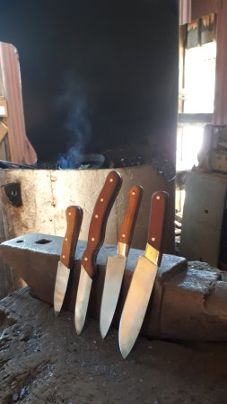 Wakefield, New Zealand: Our finished knives