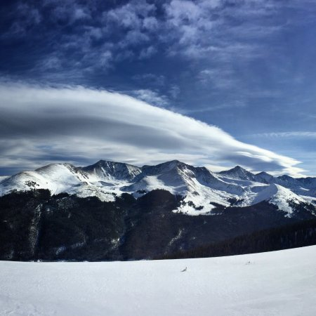 Copper Mountain, CO: Glorious panoramic horizons at the summit...